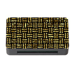 Woven1 Black Marble & Gold Foil Memory Card Reader With Cf by trendistuff
