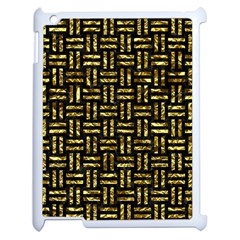 Woven1 Black Marble & Gold Foil Apple Ipad 2 Case (white) by trendistuff