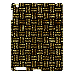 Woven1 Black Marble & Gold Foil Apple Ipad 3/4 Hardshell Case by trendistuff