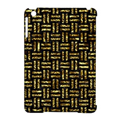 Woven1 Black Marble & Gold Foil Apple Ipad Mini Hardshell Case (compatible With Smart Cover) by trendistuff