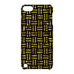 Woven1 Black Marble & Gold Foil Apple Ipod Touch 5 Hardshell Case With Stand by trendistuff