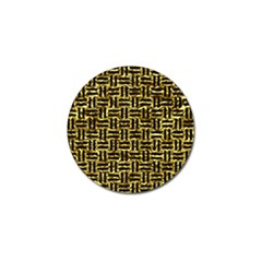 Woven1 Black Marble & Gold Foil (r) Golf Ball Marker by trendistuff