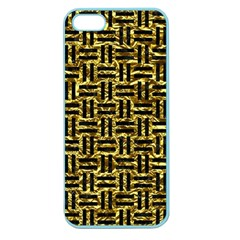 Woven1 Black Marble & Gold Foil (r) Apple Seamless Iphone 5 Case (color) by trendistuff
