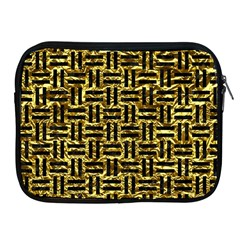 Woven1 Black Marble & Gold Foil (r) Apple Ipad 2/3/4 Zipper Cases by trendistuff