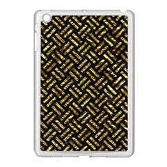 Woven2 Black Marble & Gold Foil Apple Ipad Mini Case (white) by trendistuff