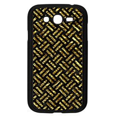 Woven2 Black Marble & Gold Foil Samsung Galaxy Grand Duos I9082 Case (black) by trendistuff