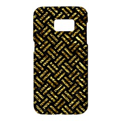 Woven2 Black Marble & Gold Foil Samsung Galaxy S7 Hardshell Case  by trendistuff