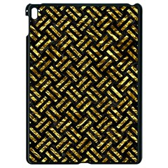 Woven2 Black Marble & Gold Foil Apple Ipad Pro 9 7   Black Seamless Case by trendistuff