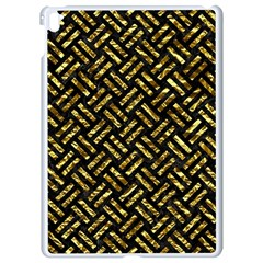 Woven2 Black Marble & Gold Foil Apple Ipad Pro 9 7   White Seamless Case by trendistuff