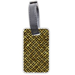Woven2 Black Marble & Gold Foil (r) Luggage Tags (two Sides) by trendistuff
