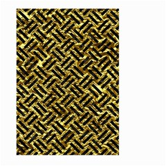 Woven2 Black Marble & Gold Foil (r) Large Garden Flag (two Sides) by trendistuff
