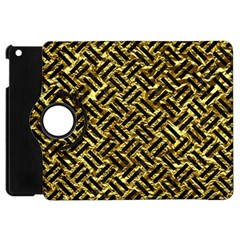 Woven2 Black Marble & Gold Foil (r) Apple Ipad Mini Flip 360 Case by trendistuff