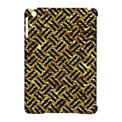Woven2 Black Marble & Gold Foil (r) Apple Ipad Mini Hardshell Case (compatible With Smart Cover) by trendistuff