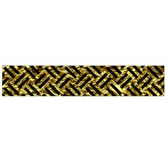 Woven2 Black Marble & Gold Foil (r) Flano Scarf (large) by trendistuff