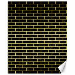 Brick1 Black Marble & Gold Glitter Canvas 16  X 20   by trendistuff