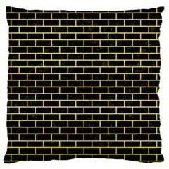 Brick1 Black Marble & Gold Glitter Standard Flano Cushion Case (one Side) by trendistuff