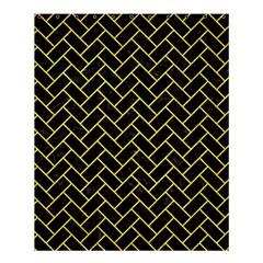 Brick2 Black Marble & Gold Glitter Shower Curtain 60  X 72  (medium)  by trendistuff