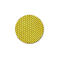 Brick2 Black Marble & Gold Glitter (r) Golf Ball Marker (10 Pack) by trendistuff