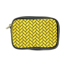 Brick2 Black Marble & Gold Glitter (r) Coin Purse by trendistuff