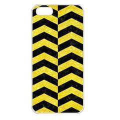 Chevron2 Black Marble & Gold Glitterchevron2 Black Marble & Gold Glitter Apple Iphone 5 Seamless Case (white) by trendistuff