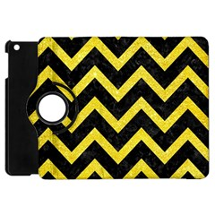 Chevron9 Black Marble & Gold Glittere & Gold Glitter Apple Ipad Mini Flip 360 Case by trendistuff