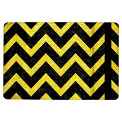 Chevron9 Black Marble & Gold Glittere & Gold Glitter Ipad Air Flip by trendistuff