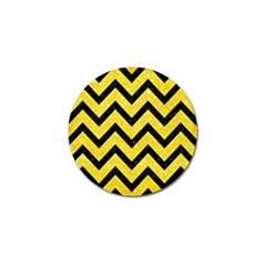 Chevron9 Black Marble & Gold Glitter (r) Golf Ball Marker (4 Pack) by trendistuff