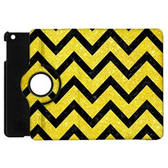 Chevron9 Black Marble & Gold Glitter (r) Apple Ipad Mini Flip 360 Case by trendistuff