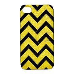 Chevron9 Black Marble & Gold Glitter (r) Apple Iphone 4/4s Hardshell Case With Stand by trendistuff