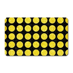 Circles1 Black Marble & Gold Glitter Magnet (rectangular) by trendistuff