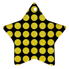 Circles1 Black Marble & Gold Glitter Star Ornament (two Sides) by trendistuff