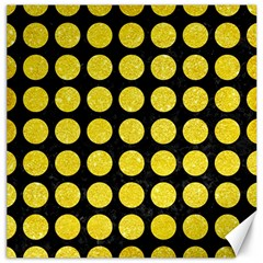 Circles1 Black Marble & Gold Glitter Canvas 20  X 20   by trendistuff