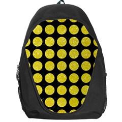 Circles1 Black Marble & Gold Glitter Backpack Bag by trendistuff