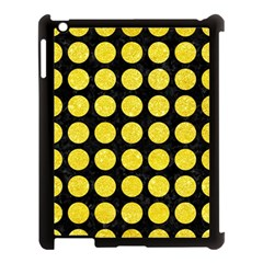Circles1 Black Marble & Gold Glitter Apple Ipad 3/4 Case (black) by trendistuff