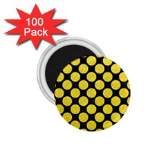 Circles2 Black Marble & Gold Glitter 1 75  Magnets (100 Pack)  by trendistuff