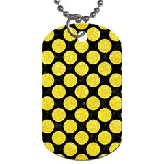 Circles2 Black Marble & Gold Glitter Dog Tag (one Side) by trendistuff
