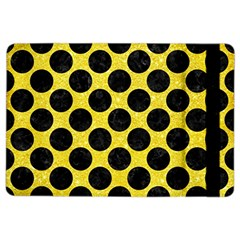 Circles2 Black Marble & Gold Glitter (r) Ipad Air 2 Flip by trendistuff