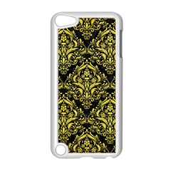 Damask1 Black Marble & Gold Glitter Apple Ipod Touch 5 Case (white) by trendistuff