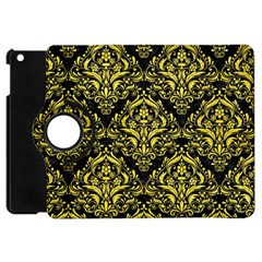 Damask1 Black Marble & Gold Glitter Apple Ipad Mini Flip 360 Case by trendistuff