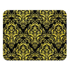 Damask1 Black Marble & Gold Glitter Double Sided Flano Blanket (large)  by trendistuff