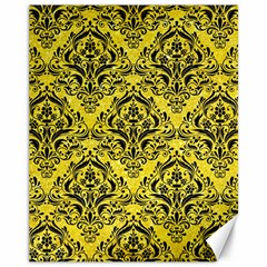 Damask1 Black Marble & Gold Glitter (r) Canvas 11  X 14   by trendistuff