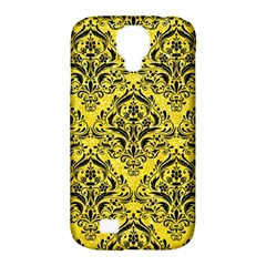 Damask1 Black Marble & Gold Glitter (r) Samsung Galaxy S4 Classic Hardshell Case (pc+silicone) by trendistuff