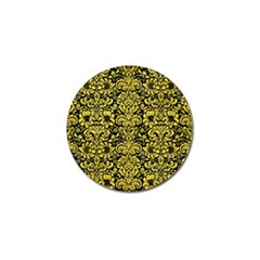 Damask2 Black Marble & Gold Glitter Golf Ball Marker (10 Pack) by trendistuff