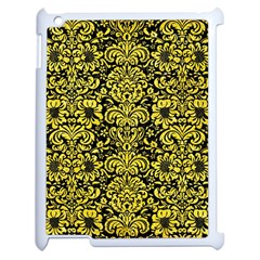 Damask2 Black Marble & Gold Glitter Apple Ipad 2 Case (white) by trendistuff