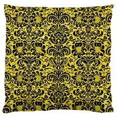 Damask2 Black Marble & Gold Glitter (r) Large Cushion Case (two Sides) by trendistuff