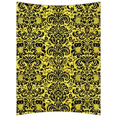 Damask2 Black Marble & Gold Glitter (r) Back Support Cushion