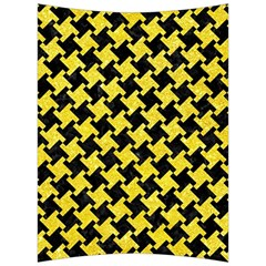 Houndstooth2 Black Marble & Gold Glitter Back Support Cushion