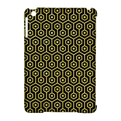 Hexagon1 Black Marble & Gold Glitter Apple Ipad Mini Hardshell Case (compatible With Smart Cover) by trendistuff