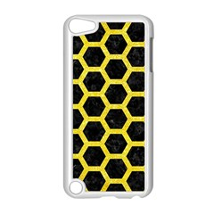 Hexagon2 Black Marble & Gold Glitter Apple Ipod Touch 5 Case (white) by trendistuff