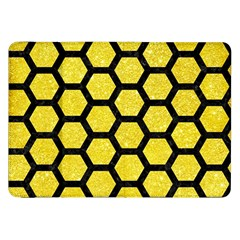 Hexagon2 Black Marble & Gold Glitter (r) Samsung Galaxy Tab 8 9  P7300 Flip Case by trendistuff